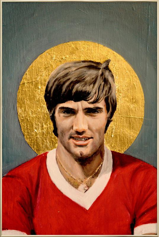 Football Icon - George Best -Poster im Alurahmen