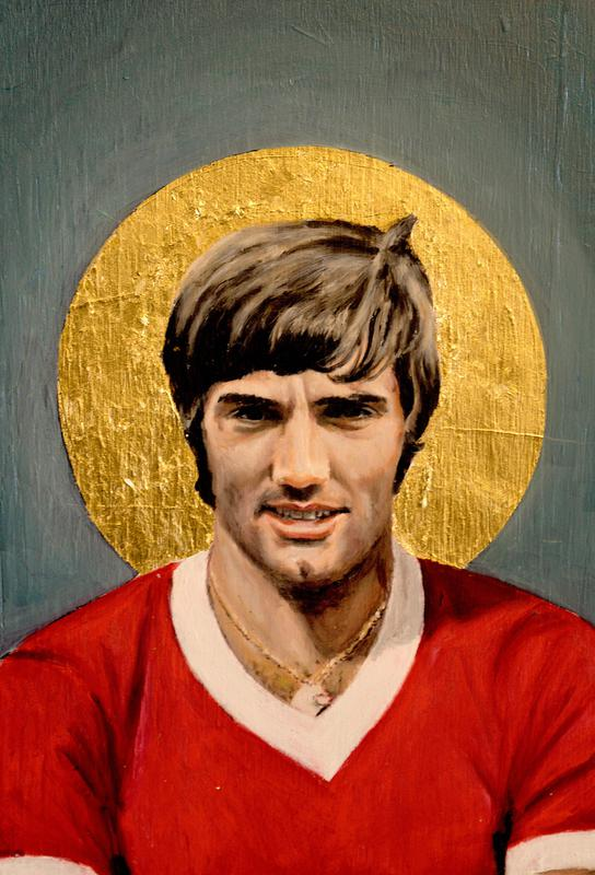 Football Icon - George Best tableau en verre