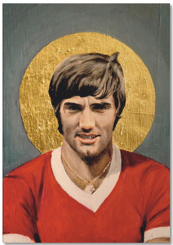 Football Icon - George Best -Notizblock
