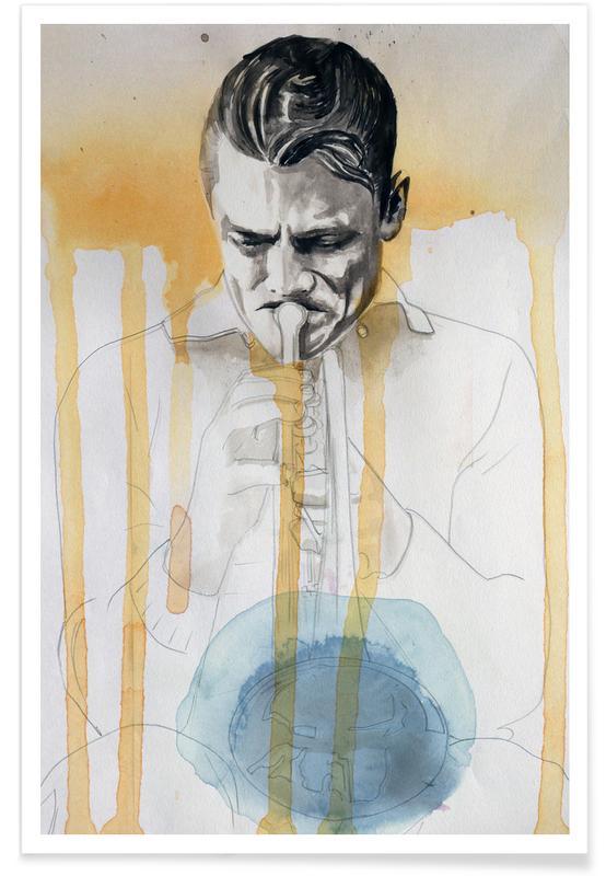 Jazz, Chet Baker -Poster