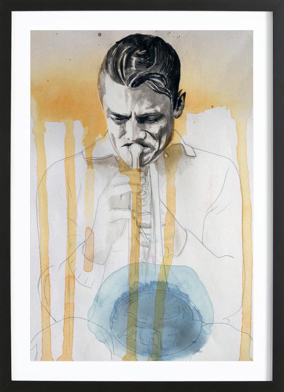 Chet Baker ingelijste print