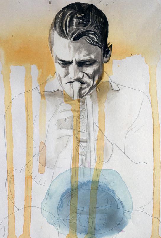 Chet Baker -Acrylglasbild