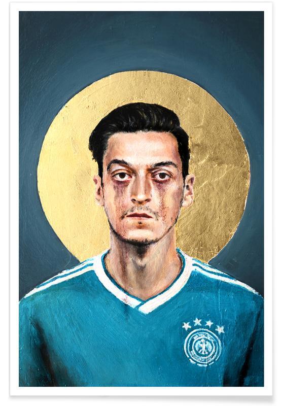 Football Icon - Mesut Özil affiche