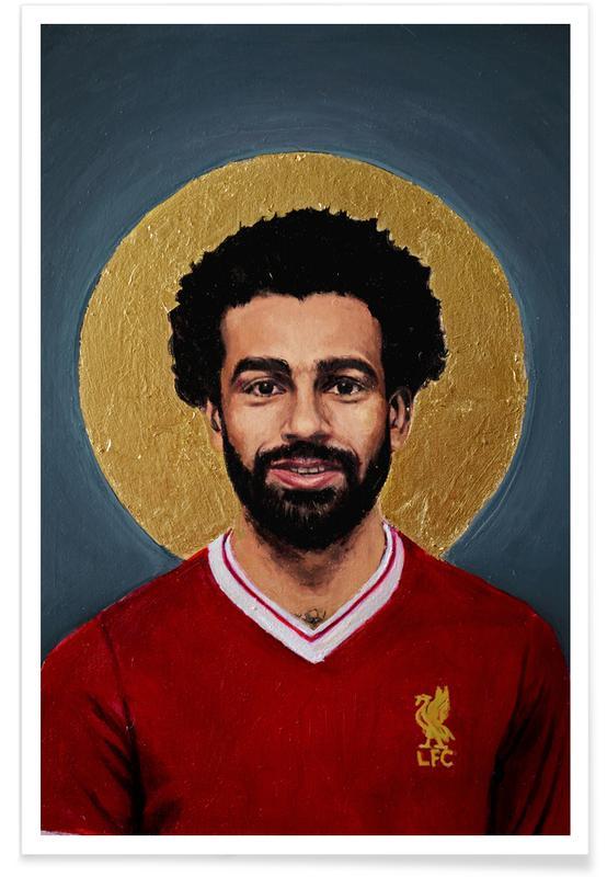 Football, Football Icon - Mohamed Salah affiche