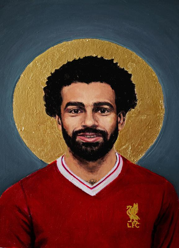Football Icon - Mohamed Salah Canvas Print
