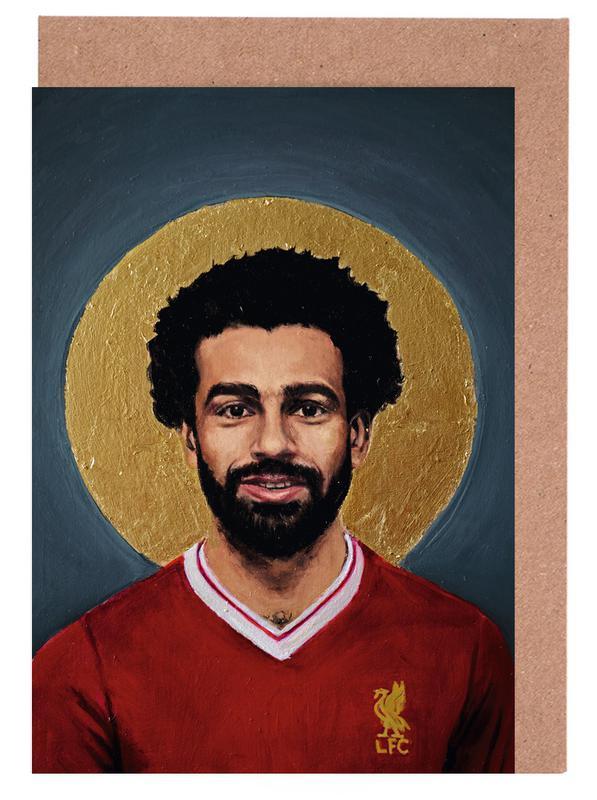 Football, Football Icon - Mohamed Salah cartes de vœux