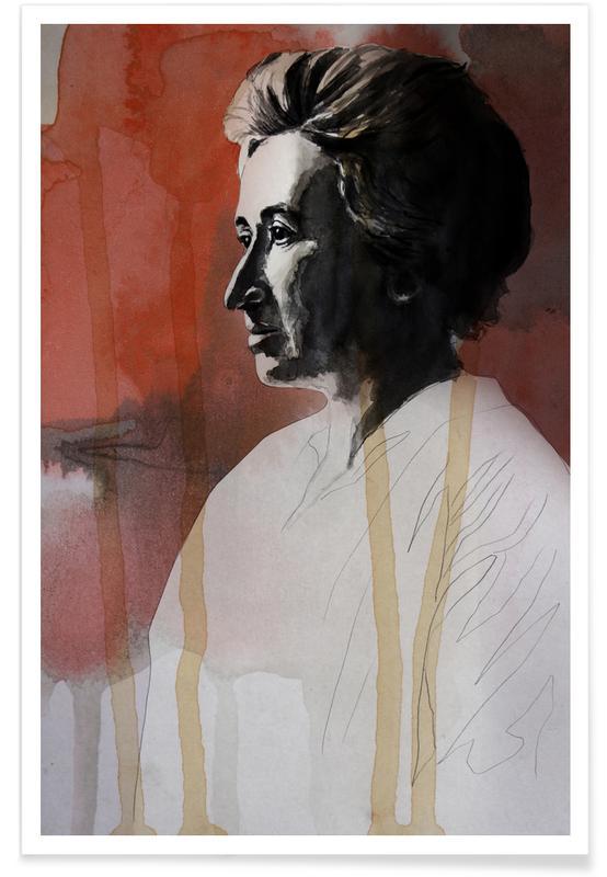 Rosa Luxemburg-Zeichnung -Poster