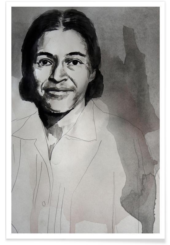 Politieke figuren, Rosa Parks - schilderij poster
