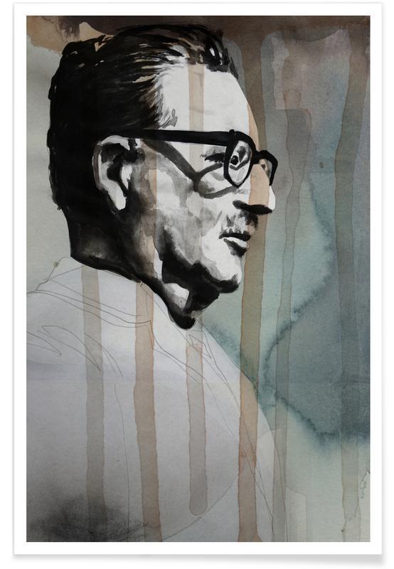 Salvador Allende-Zeichnung -Poster