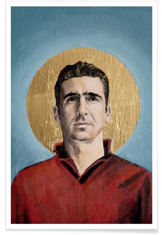 , Football Icon - Eric Cantona affiche