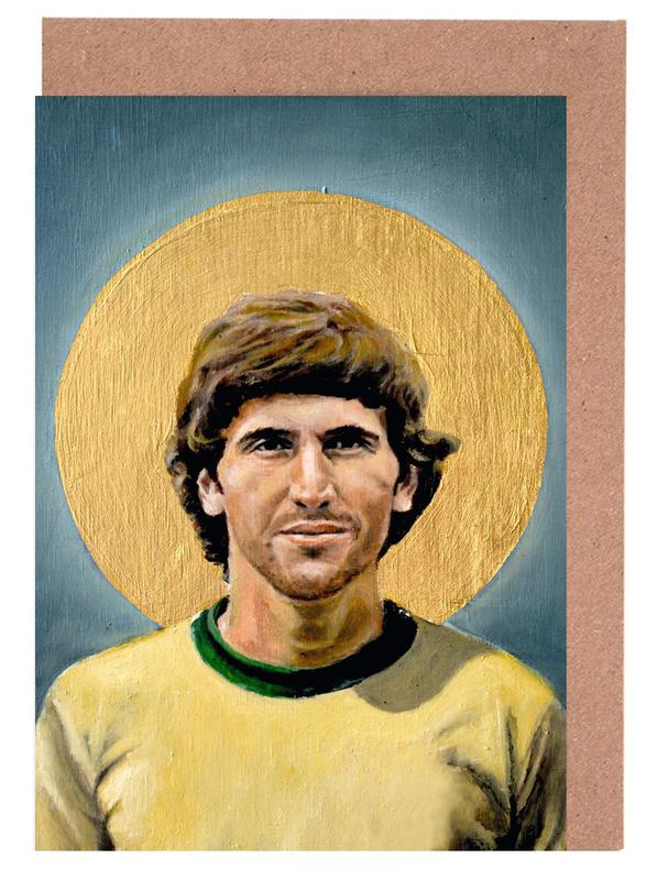 , Football Icon - Zico cartes de vœux