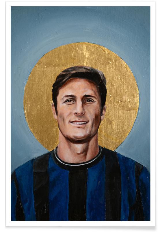 , Football Icon - Javier Zanetti affiche