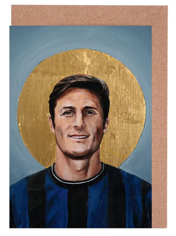 , Football Icon - Javier Zanetti cartes de vœux