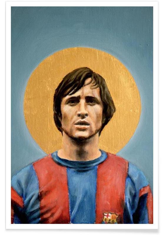 Football, Football Icon - Johan Cruyff affiche