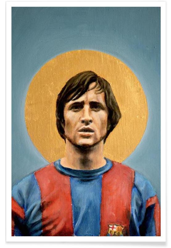 Foldbold, Football Icon - Johan Cruyff Plakat