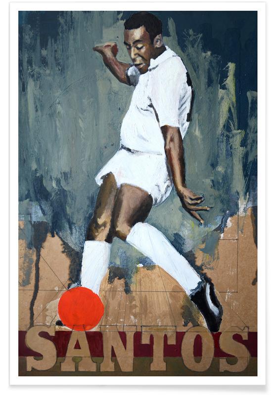 Football, One Love - Santos Poster