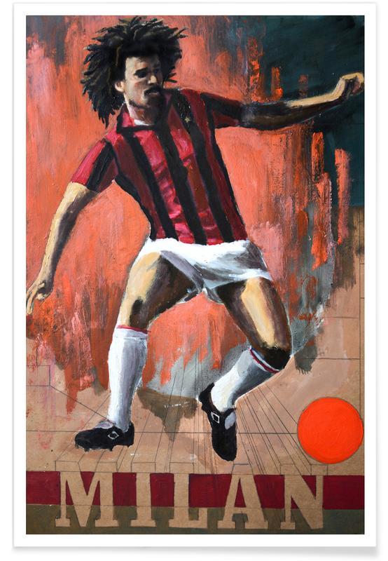 Voetbal, One Love - Milan poster