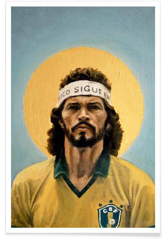 Foldbold, Football Icon - Sócrates Plakat