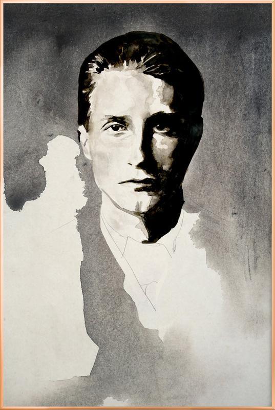 Marcel Duchamps Poster in Aluminium Frame
