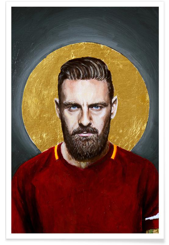 , Daniele Derossi Football Icon Ohnelogo Poster