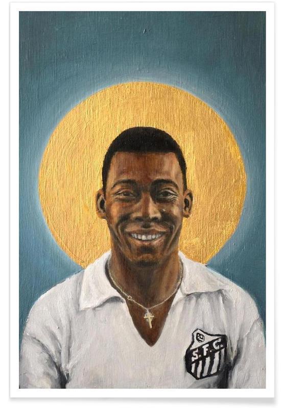 Football, Football Icon - Pelé affiche