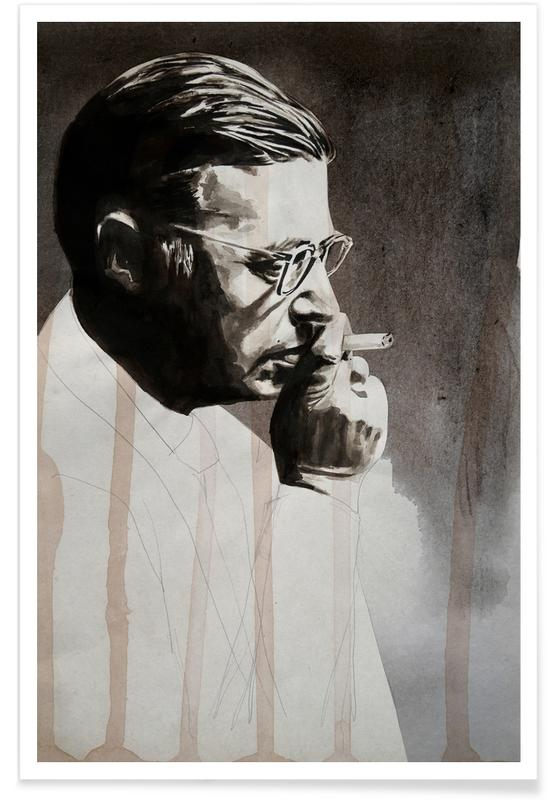 Jeanpaul Sartre -Poster