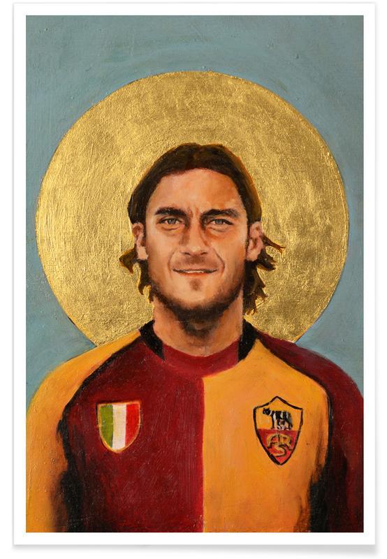 Football, Football Icon - Totti Poster