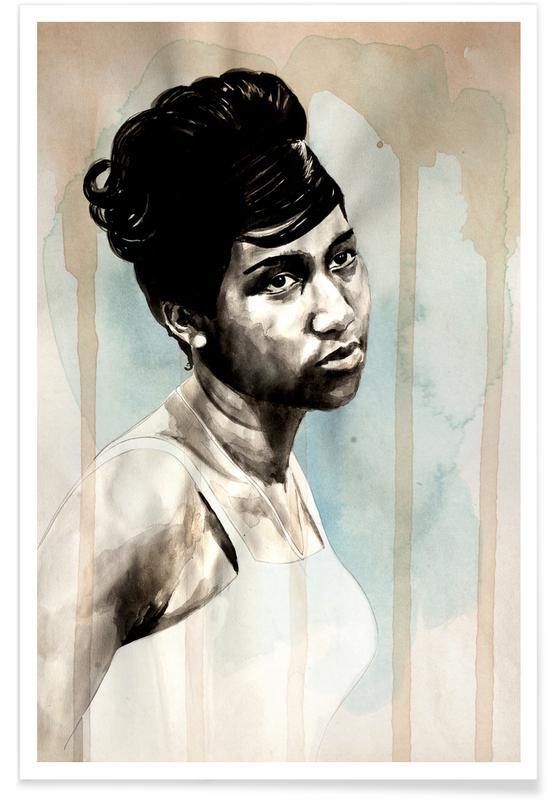 Aretha Franklin Poster