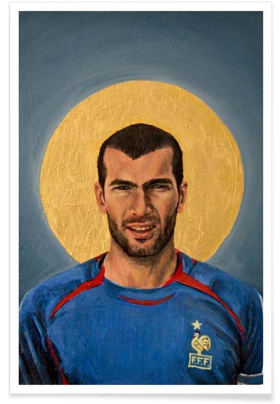 Voetbal, Football Icon - Zinedine Zidane poster