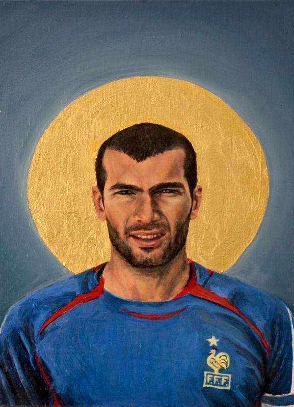 Football Icon - Zinedine Zidane Canvas Print