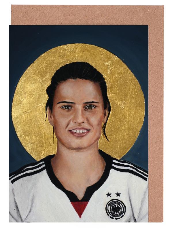 , Football Icon - Dzsenifer Marozsán cartes de vœux