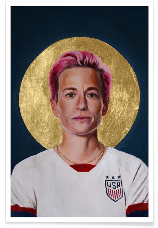 , Football Icon - Megan Rapinoe affiche