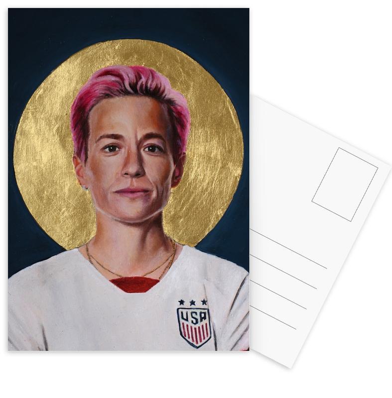 , Football Icon - Megan Rapinoe cartes postales