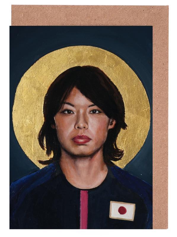 , Football Icon - Saki Kumagai cartes de vœux