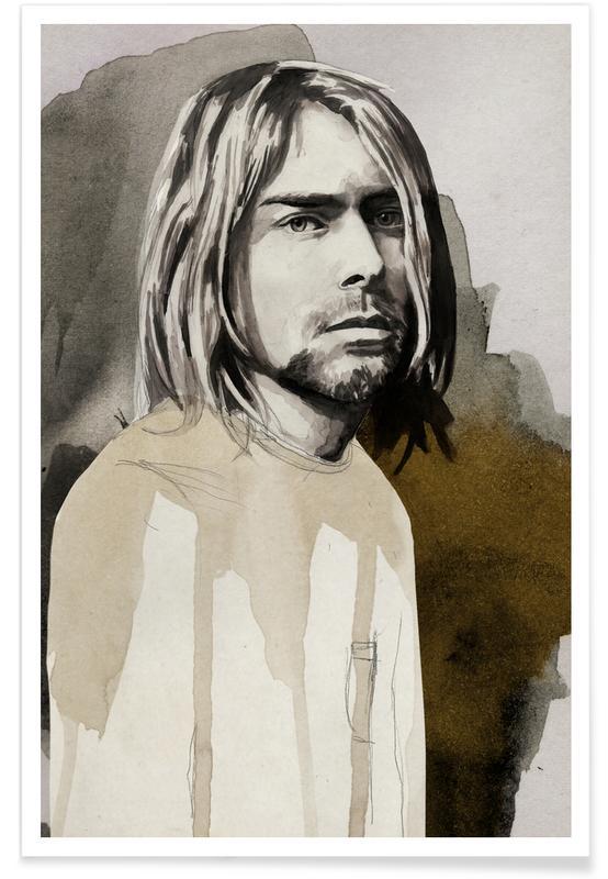 Rock, Kurt Cobain -Poster