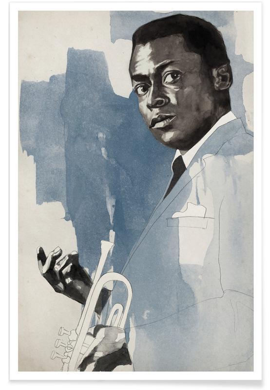 Jazz, Miles Davis poster