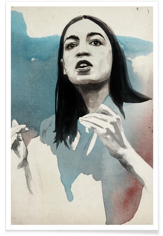 Political Figures, Alexandria Ocasio Cortez Poster