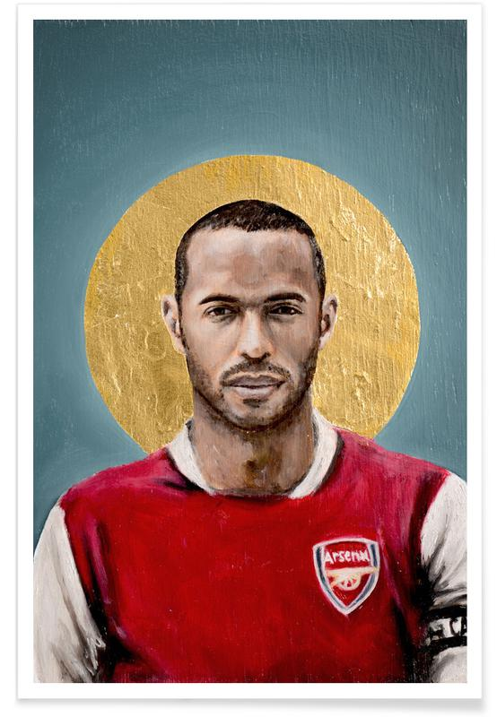 Football, Football Icon - Thierry Henry affiche