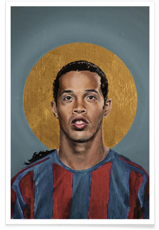 Football, Football Icon - Ronaldinho affiche