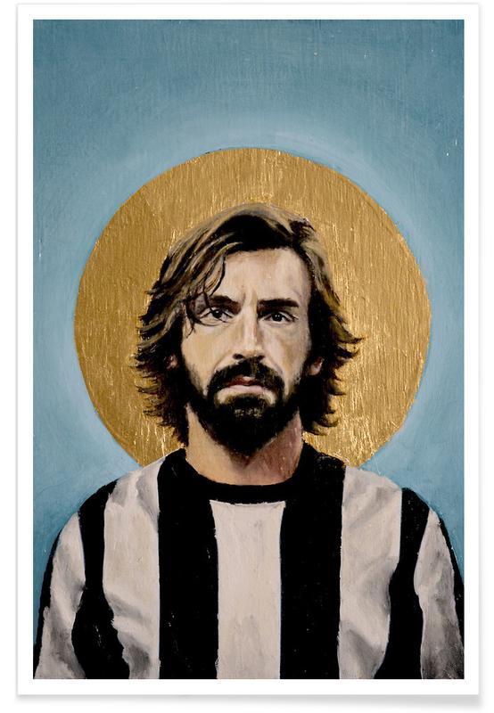 Football Icon - Andrea Pirlo affiche