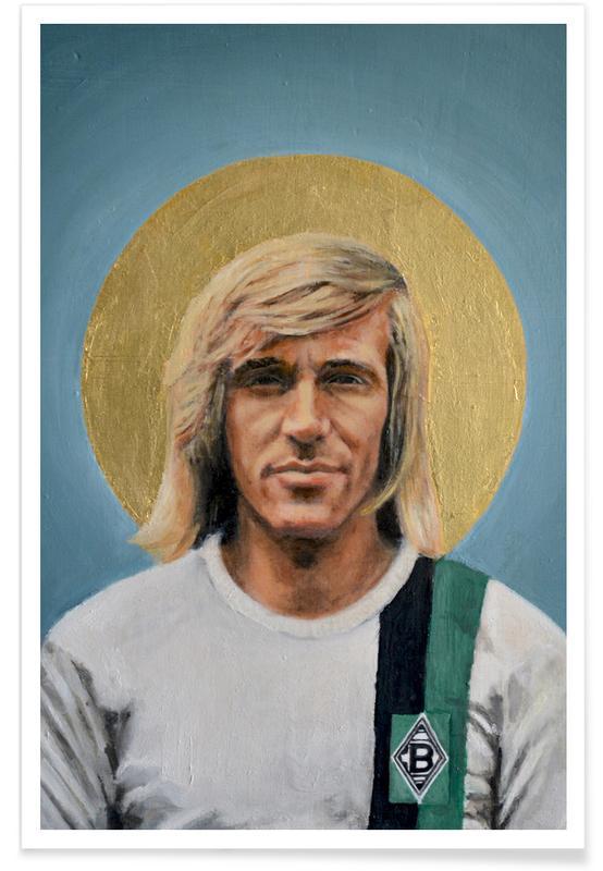 Voetbal, Football Icon - Günter Netzer poster