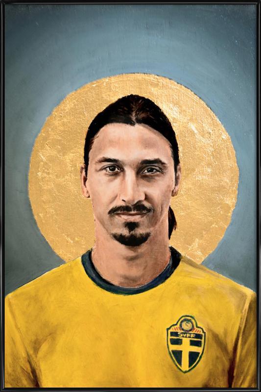 Football Icon - Zlatan Ibrahimovic Framed Poster