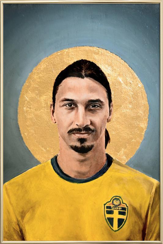 Football Icon - Zlatan Ibrahimovic Poster in Aluminium Frame