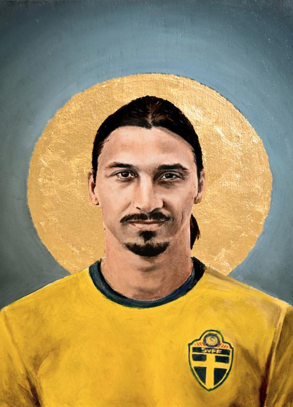 Football Icon - Zlatan Ibrahimovic canvas doek