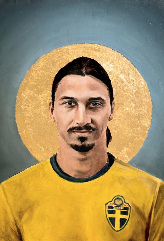 Football Icon - Zlatan Ibrahimovic Aluminium Print
