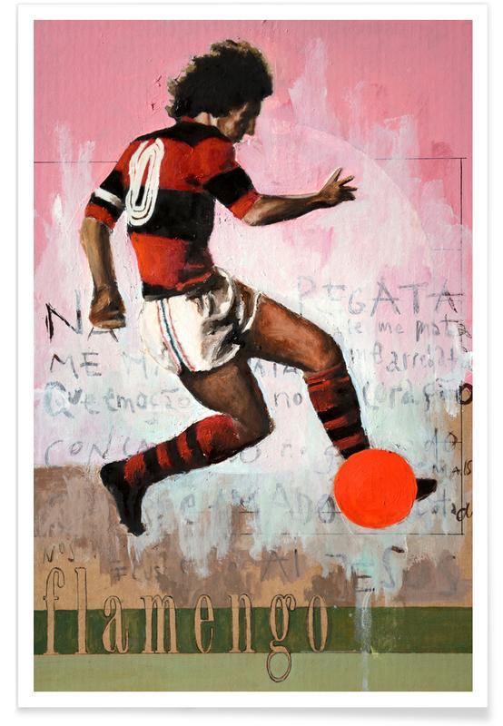Football, Rio de Janeiro, One Love Flamengo Poster
