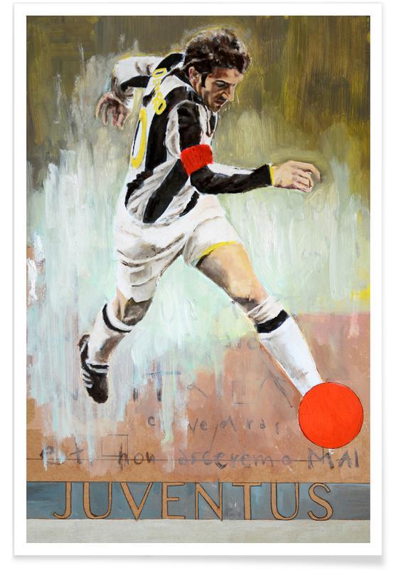 Foldbold, One Love - Juventus Plakat