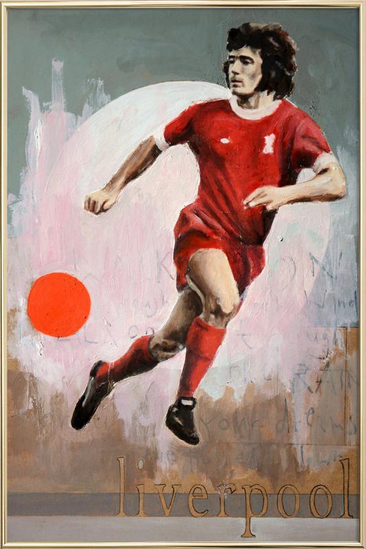One Love Liverpool poster in aluminium lijst