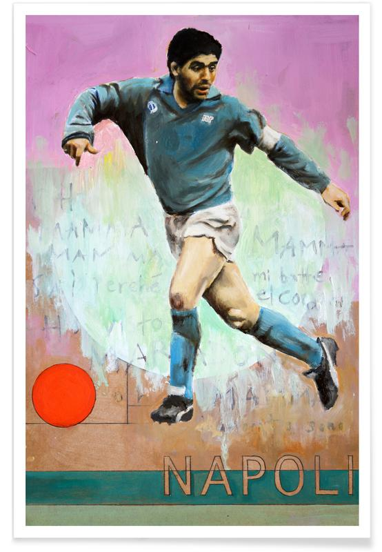 Football, One Love Napoli Poster
