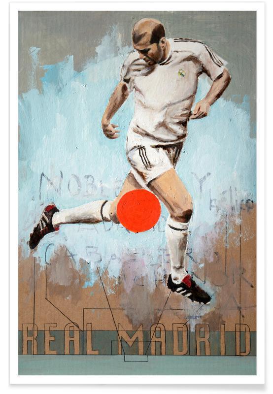 Foldbold, Madrid, One Love Real Plakat